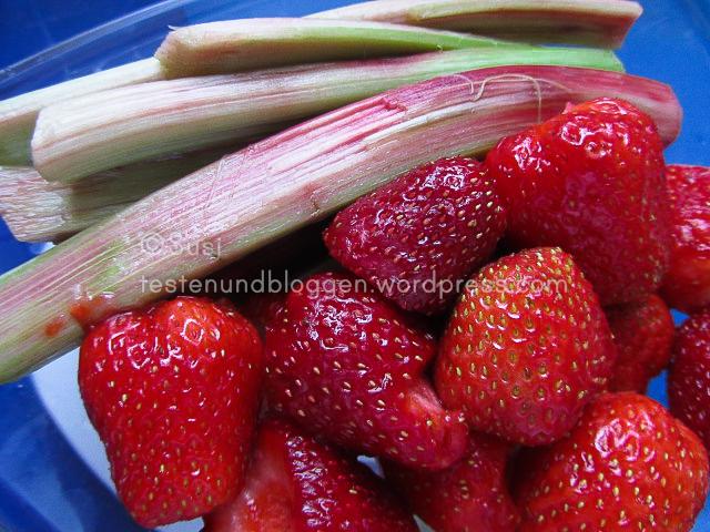 marmelade mit erdbeeren rhababer und rohrzucker testen. Black Bedroom Furniture Sets. Home Design Ideas