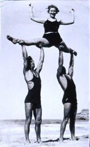 Acrobatics on the beach