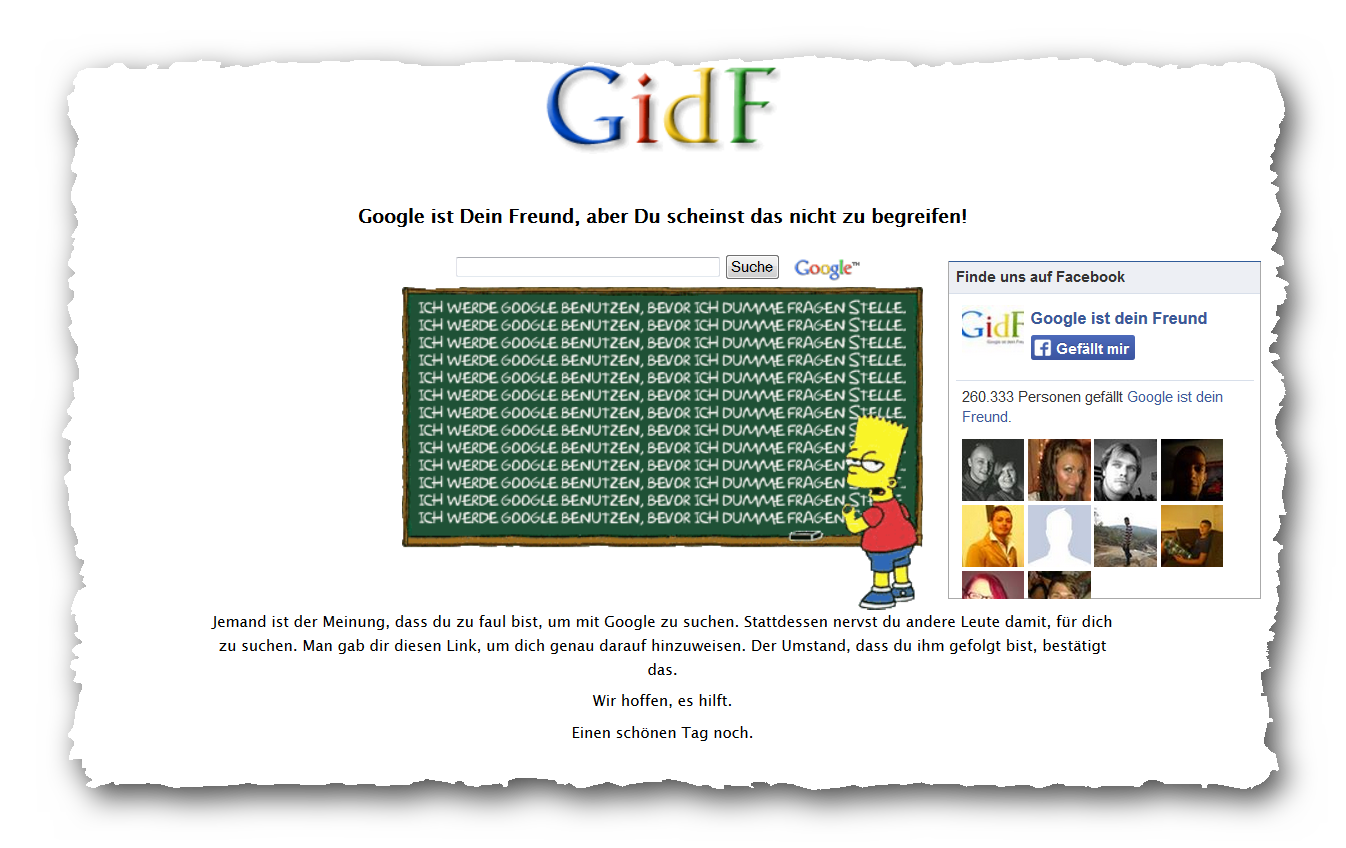 Google Ist Dein Freund
