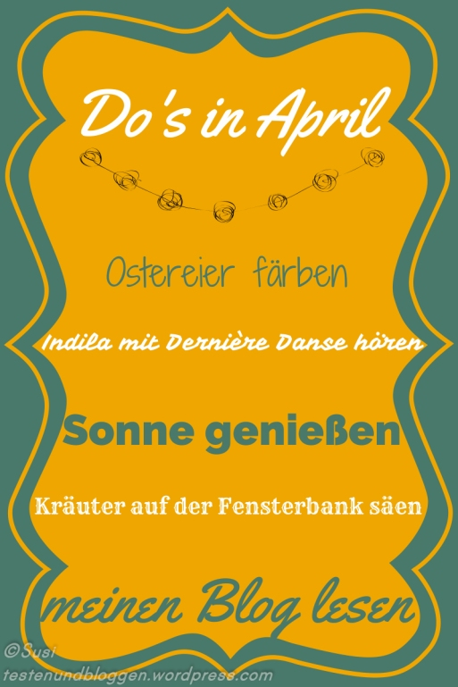 April To Do Liste