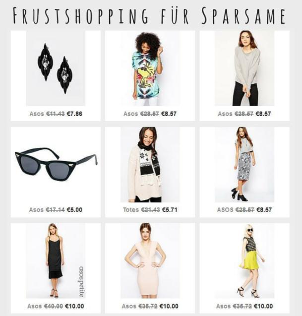 Frustshopping für Sparsame Shopping Sale Ausverkauf Schnäppchen