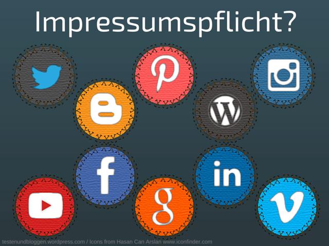 Impressumspflicht Facebook Blog Twitter Social Media