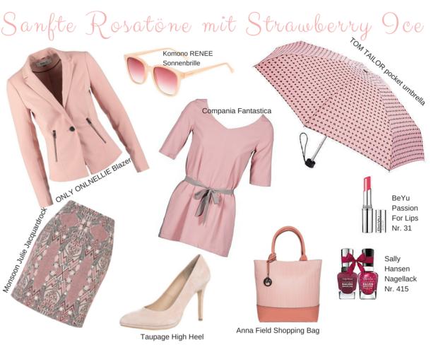 Sanfte Rosatöne mit Strawberry Ice
