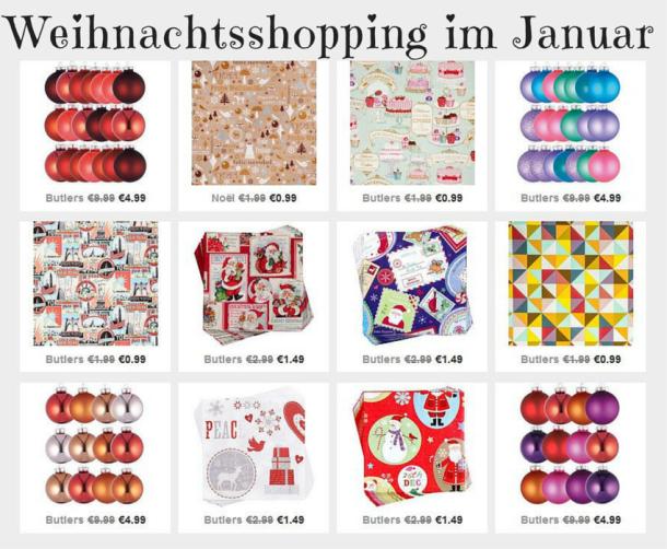 Weihnachtsshopping im Januar Rabatt Schnäppchen Ausverkauf