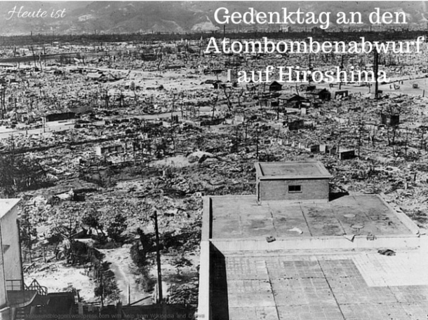 Gedenktag an den Atombombenabwurf auf Hiroshima