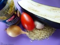 Gemüse-Reis mit Barilla Pesto Rustico Aubergine mit Kräutern
