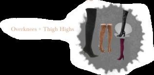 Schuhe Trend im Herbst Overknees Thigh Highs