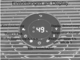 Philips Lufterfrischer Display Einstellungen
