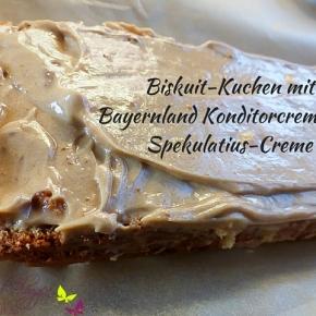 Biskuit-Kuchen mit Spekulatius-Creme und BayernlandKonditorcreme