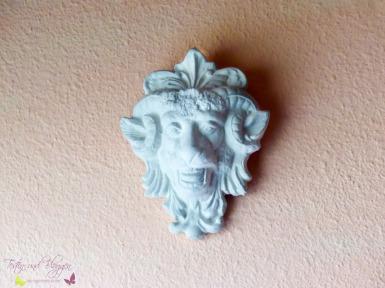 Steinfigur Widder Wanddeko Steinrelief