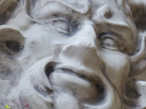 Wanddeko Waldgott Steinfigur Steinrelief