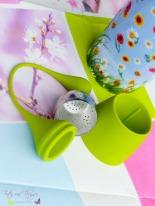 Silikon Tee-Ei mit Zipfel und Untersatz