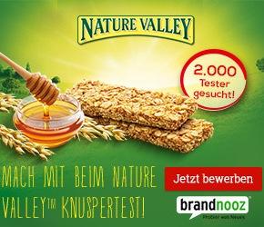 Tester gesucht: Lust auf Knuspermüsli-Riegel von NatureValley?
