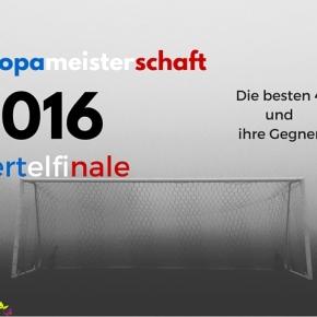 [EM 2016] Viertelfinale – die besten 4 und ihreGegner