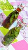 Essig selber machen Veilchen Bärlauch Fenchel Salbei