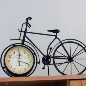 Wohnzimmeruhr Fahrrad