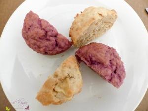 Haferflocken Muffin mit Apfel und Himbeeren Rezept