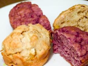 [Rezept] Haferflocken Muffins mit Apfel &Himbeeren