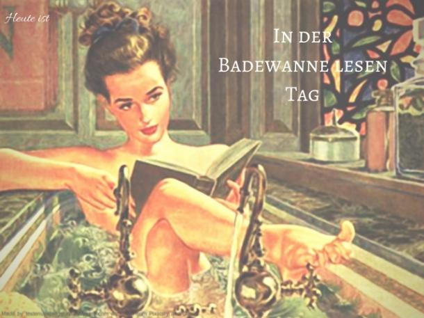 In der Badewanne lesen Tag