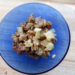 [Rezept] Apfel-Crumble mit Haferflocken ~ DieAlleskörner