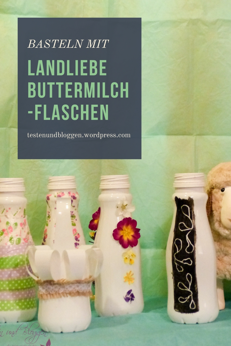 basteln mit landliebe buttermilch flaschen testen und. Black Bedroom Furniture Sets. Home Design Ideas