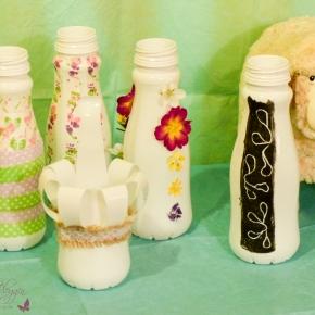 Basteln mit Landliebe Buttermilch-Flaschen