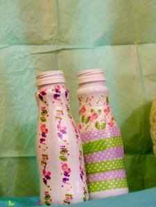 Basteln Plastikflaschen Deko Landliebe Washi Tape