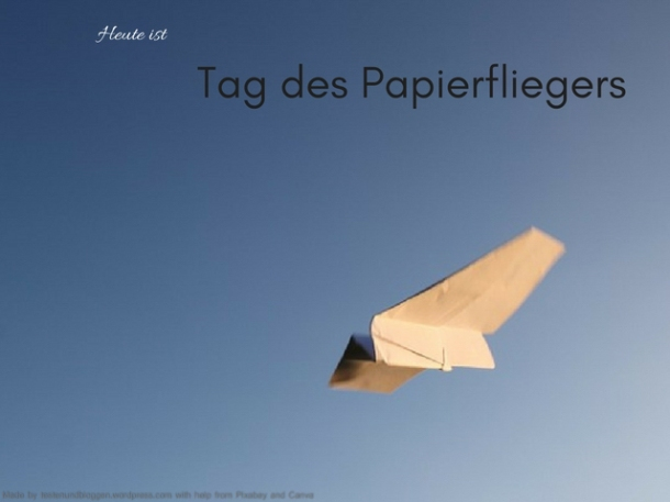 Heute ist Tag des Papierfliegers