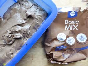 Backen mit Küchle Basic Mix Schokolade und Limette