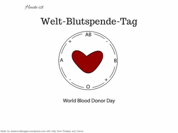 Heute ist Weltblutspende Tag Blutspende