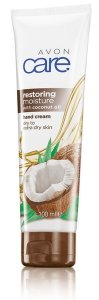 AVON CARE RESTORING MOISTURE mit Kokosöl coconut handcreme