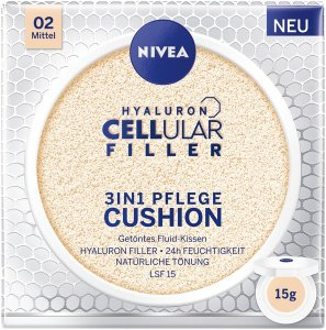 NIVEA HYALURON CELLULAR FILLER 3in1 PFLEGE CUSHION LSF 15 mittel