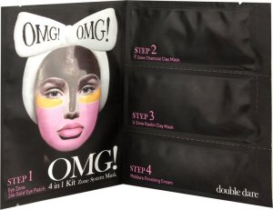 OMG! sagt alles über die neuen Masken mit AHA-Effekt OMG Mask Spa Collection 4 in 1 Kit Zone Maske