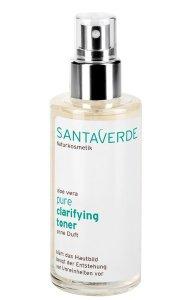 Santaverde aloe vera pure - Beruhigende Pflege gegen unreine Haut Clarifying toner ohne duft