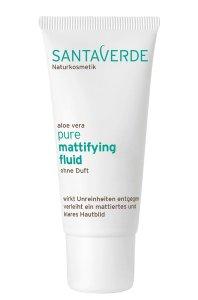 Santaverde aloe vera pure - Beruhigende Pflege gegen unreine Haut mattifying fluid ohne duft