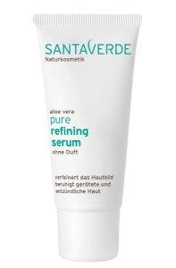 Santaverde aloe vera pure - Beruhigende Pflege gegen unreine Haut refining serum ohne duft