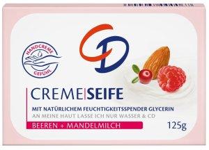 Es wird sommerlich fruchtig und blumig mit CD CREME-SEIFE und CD Energie Deo-Linie Cremeseife Mandelmilch beeren