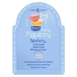 CHIARA AMBRA® Happy Macarons Tuchmasken Blueberry: Feuchtigkeitsspendend & kräftigend
