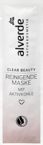 alverde naturkosmetik clear beauty reinigende maske mit aktivkohle