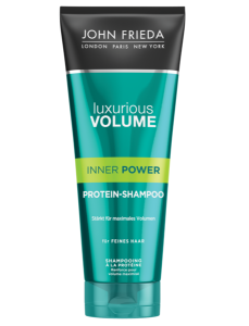 VOLUMEN beginnt mit KRAFT mit JOHN FRIEDA Luxurious Volume® Inner Power protein shampoo