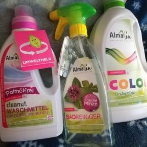 Almawin Waschmittel flüssig und Badreiniger imTest