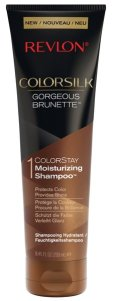 Revlon® ColorSilk® Shampoo und Conditioner Glanz und Farbschutz, vereint in einer neuen Haarpflegelinie Gorgeous Brunette, mit Mandelöl angereichert, für braunes Haar