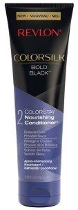 Revlon® ColorSilk® Shampoo und Conditioner Glanz und Farbschutz, vereint in einer neuen Haarpflegelinie Bold Black, mit Açai Beeren angereichert, für dunkles und schwarzes Haar