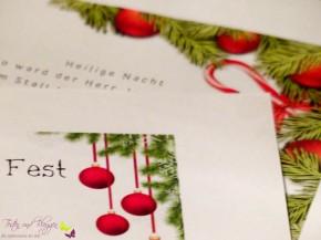 Weihnachtskarten selber drucken und mit Liebe versenden +Freebie