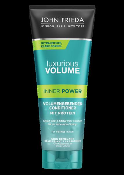 VOLUMEN BEGINNT MIT KRAFT - Luxurious Volume Inner Power stärkt das Haar von innen schwereloser protein conditioner