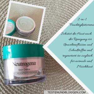 Die Neue: Neutrogena Skin Detox Pflegeserie - Mehr als Reinigen 2-in-1 Feuchtigkeitscreme