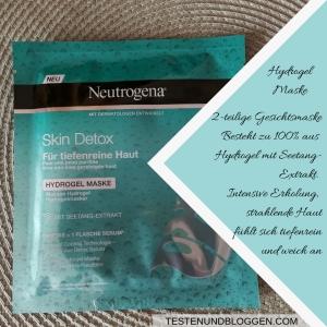 Die Neue: Neutrogena Skin Detox Pflegeserie - Mehr als Reinigen Hydrogel Maske