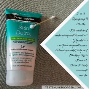 Die Neue: Neutrogena Skin Detox Pflegeserie - Mehr als Reinigen 2-in-1 Reinigung&Maske
