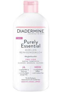 Ja zu einfach schöner Haut. Mit nur dem Essentiellen: Diadermine Purely Essential Mizellen Reinigungsmilch