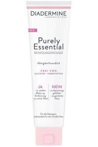 Ja zu einfach schöner Haut. Mit nur dem Essentiellen: Diadermine Purely Essential Reinigungsmousse